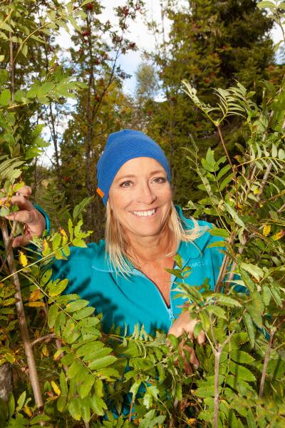 Jeanette Bretteville i skogen