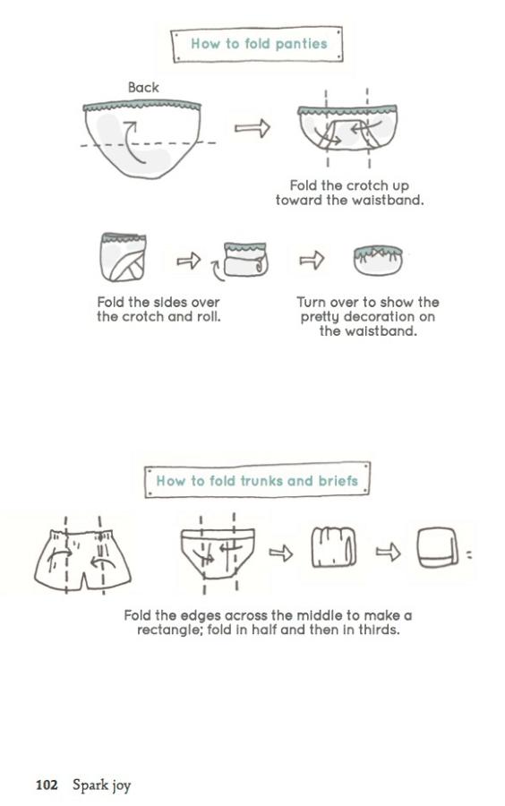 Konmari - metoden: Brette undertøy