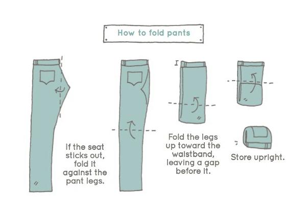 Konmari - metoden: Brette bukser